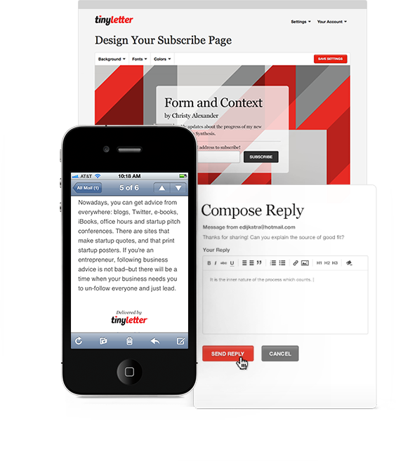 TinyLetter - enkelt att skapa nyhetsbrev