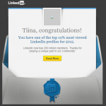 Congrats - top 10 on LinkedIn